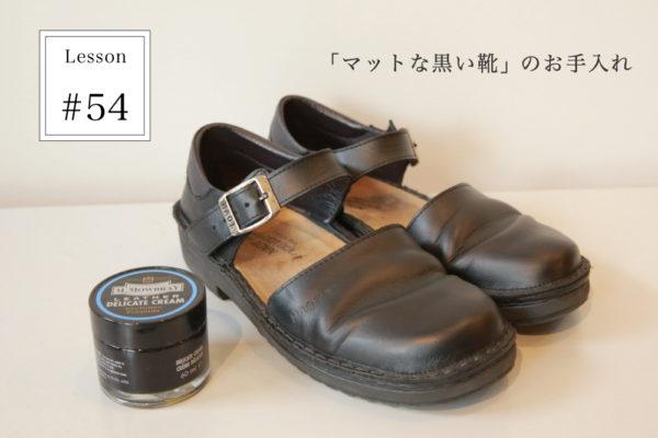 Lesson]54 「マットな黒い靴」のお手入れ